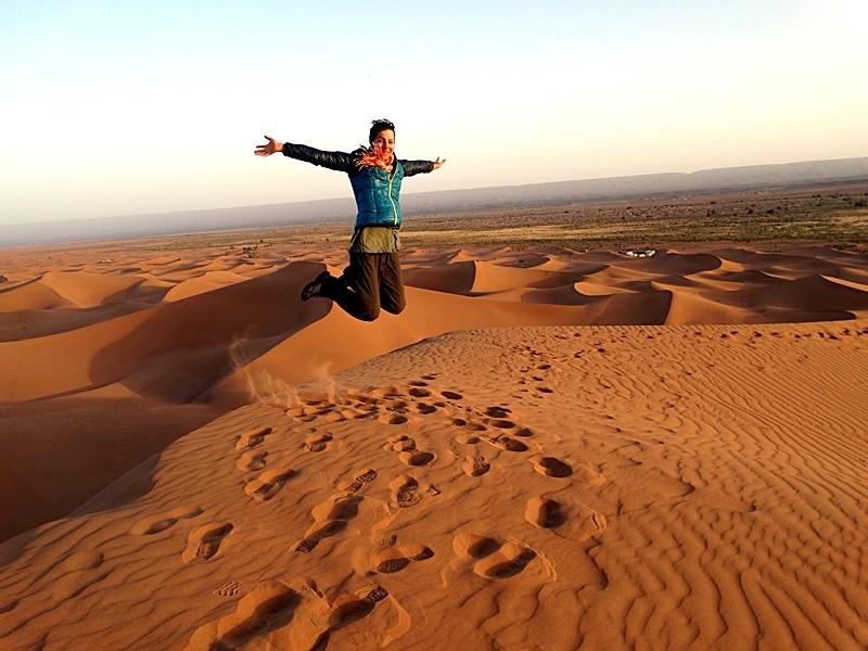 04. În vârful lui Erg Chigaga - cea mai înaltă dună din Maroc