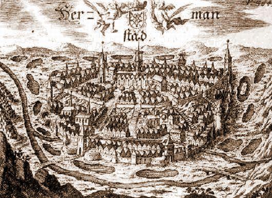 Veduta Sibiu – Schollenberger. 1666
