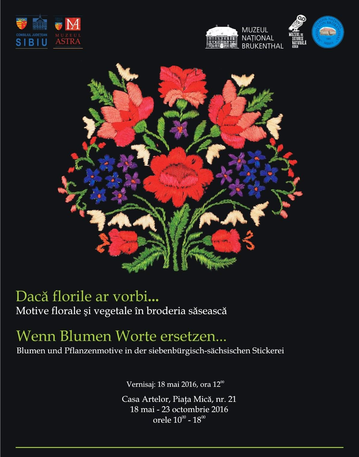 Afis Daca florile ar vorbi