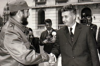 Ceausescu- Fidel Castro