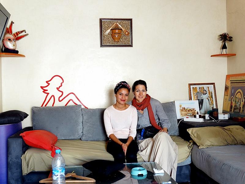 La Coco şi Mehdi acasă în Casablanca (Maroc)