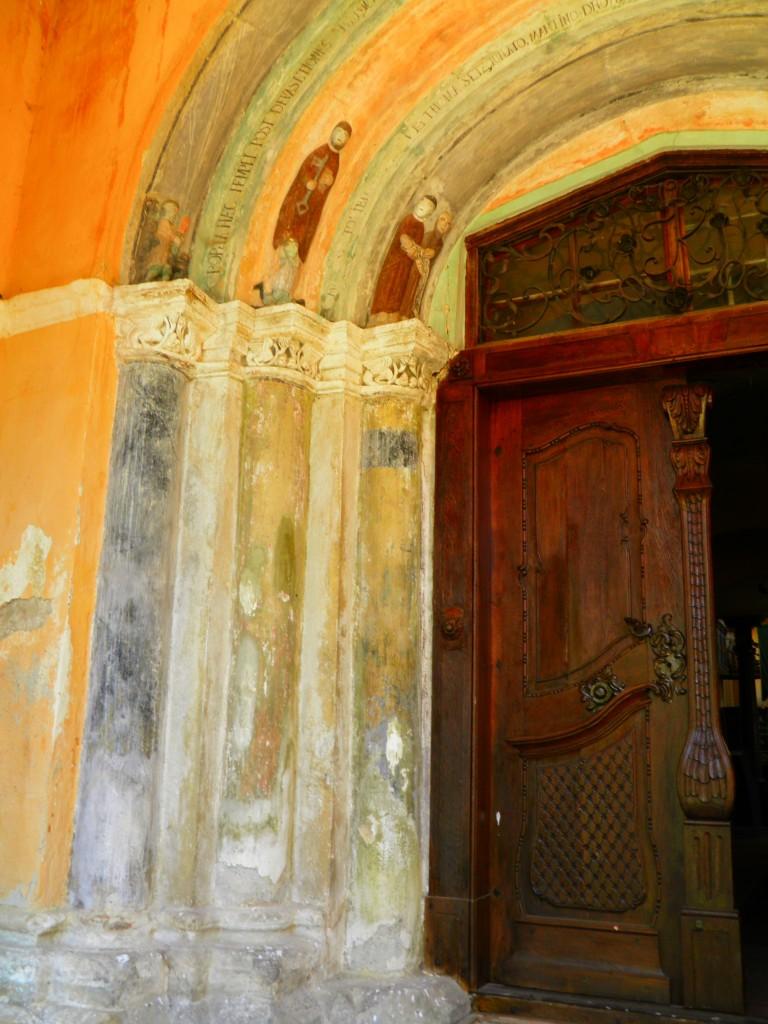 detaliu, biserica fortificata din Hosman