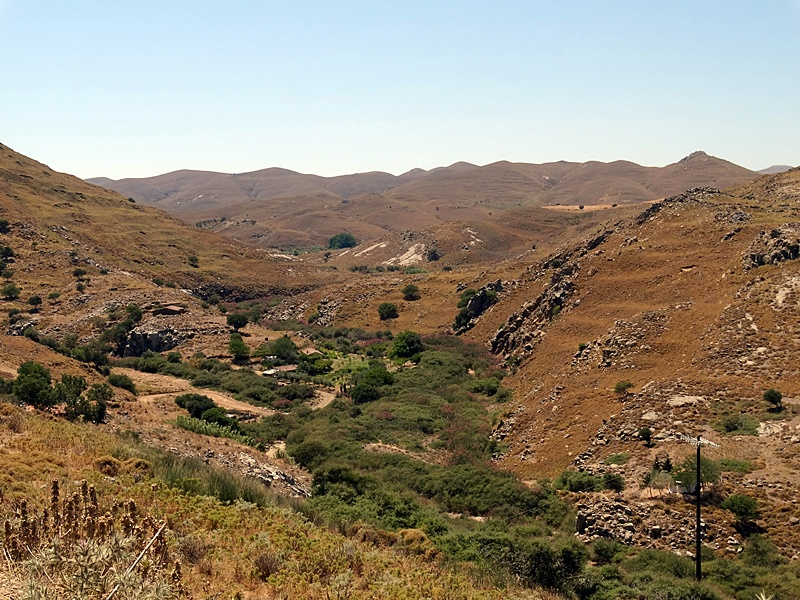 Insula Lemnos - drumul prin munti spre plaja Gomati