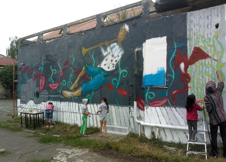 Arta stradală - balaurul artei inspirat de peisajul urban