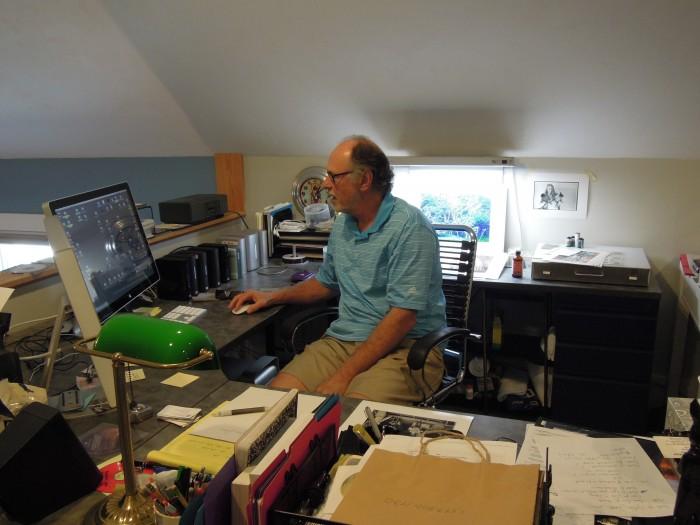 Michael Carroll, în atelier
