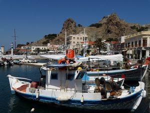 Limnos - cetatea din Myrina văzută din port