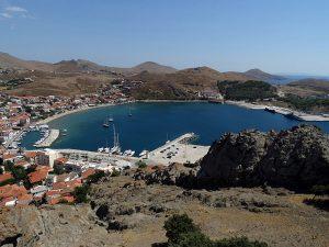 Limnos - cetatea din Myrina - vedere spre port